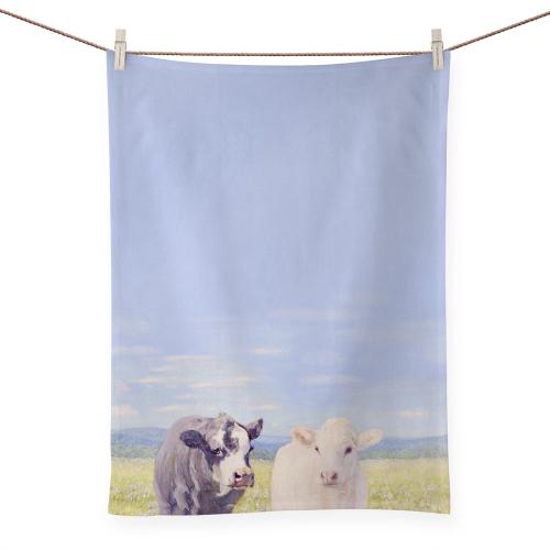 SALE!  Ferdinand & Angel Tea Towel