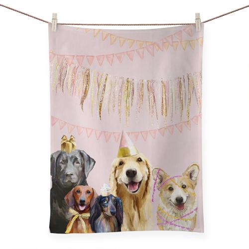 Party Pups Tea Towel