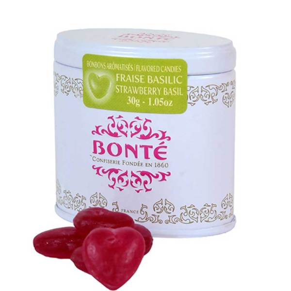 SALE!  Bonte Heart Shaped Strawberry Basil Candies