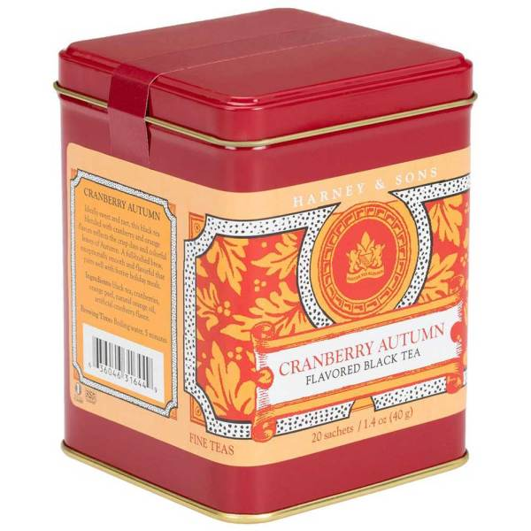 Cranberry Autumn Tea Canister