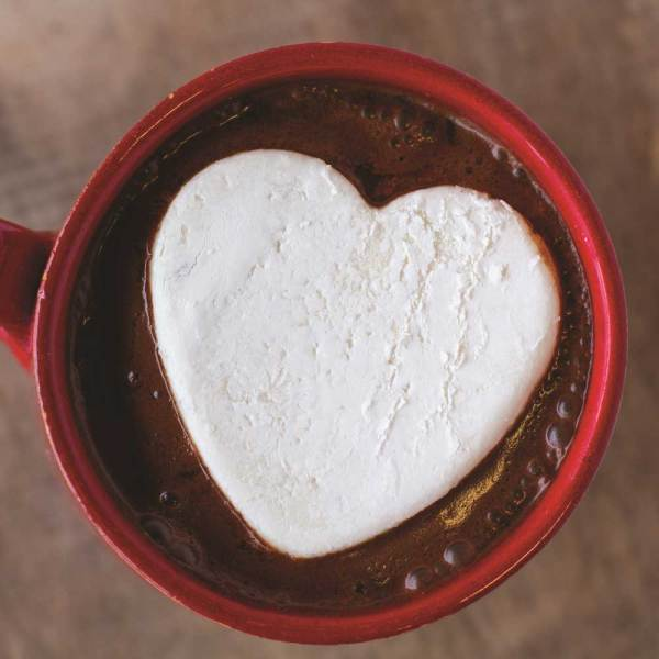 Heart Marshmallow Beverage Topper