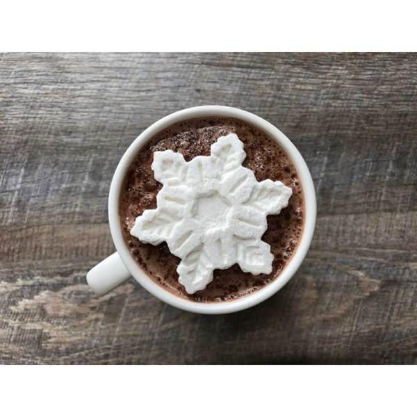 Marshmallow Snowflake Beverage Topper