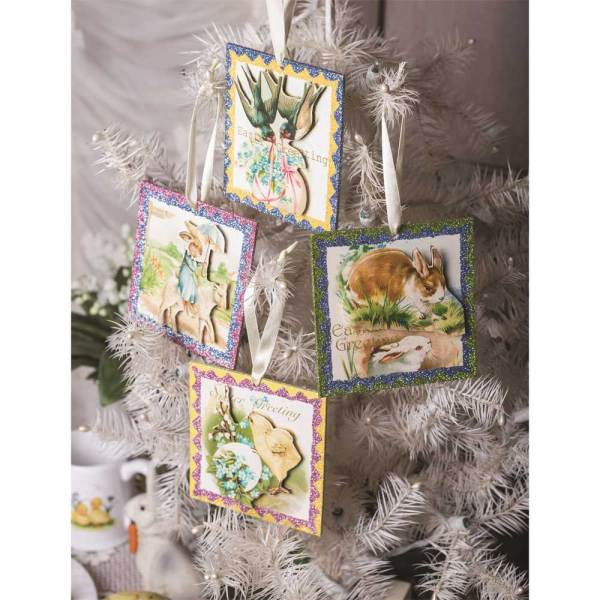 SALE!  Easter Greetings Postcard Ornaments