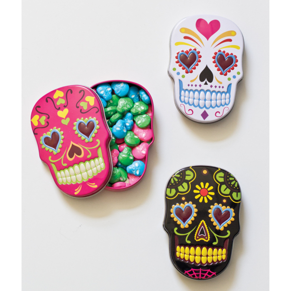 SALE!  Sugar Skulls Candy Tins - Assorted