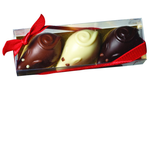 Belgian Chocolate Mouse Trio