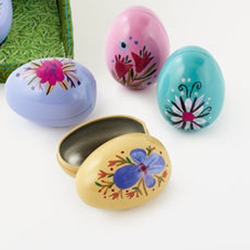 Tin Painted Eggs