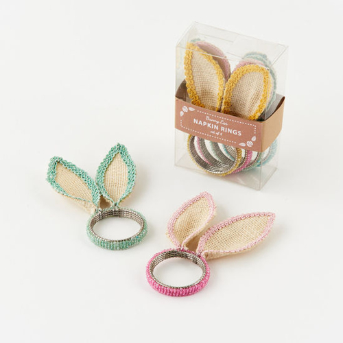 SALE!  Bunny Ear Napkin Ring Set