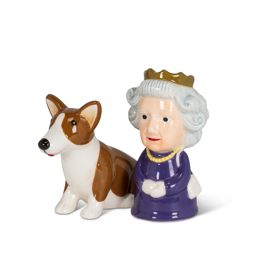 Queen & Corgi Salt & Pepper