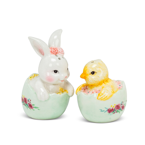 Rabbit & Chick Salt & Pepper Set