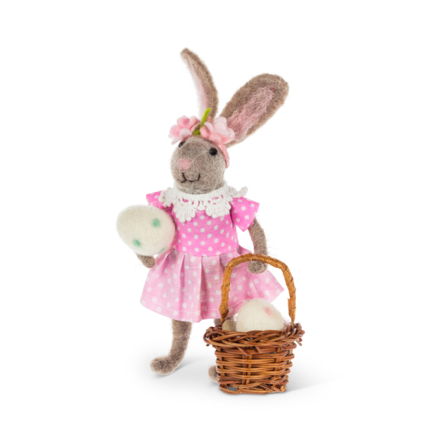 SALE!  Girl Bunny With Basket