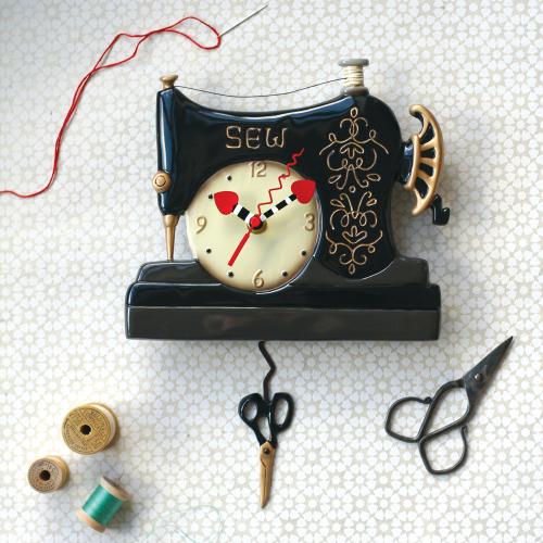 Vintage Stitch Pendulum Clock