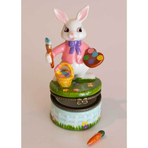 SALE!  Picasso Bunny Trinket Box