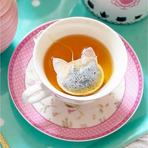 Cat Shaped Tea Bags