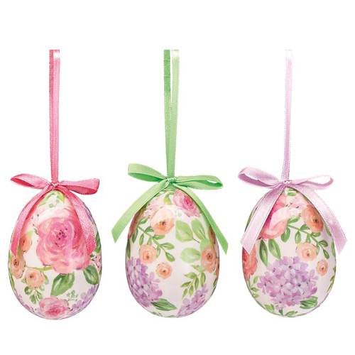 Floral Egg Ornament Set