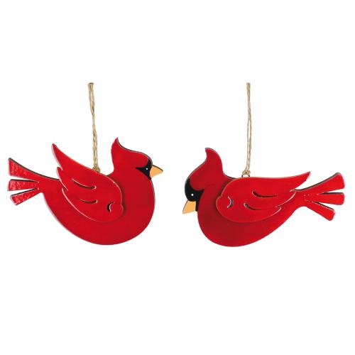 Rustic Cardinal Ornament Set
