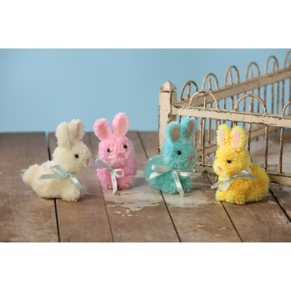LTD QTY! Fluffy Yarn Bunnies
