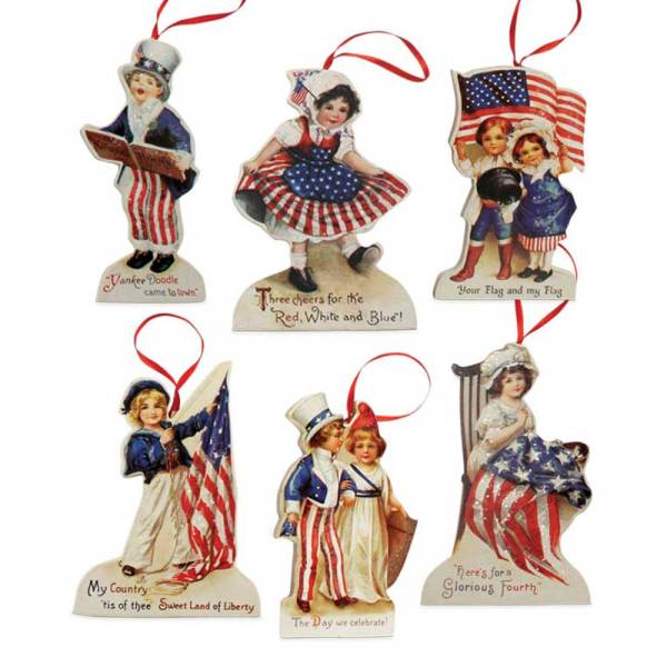 SOS!  Americana Die Cut Ornaments