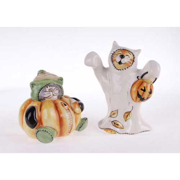 Cats in Costume Salt & Pepper Shakers