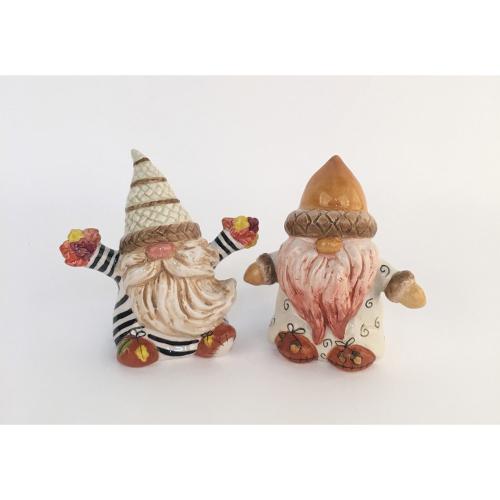LTD QTY!  Nuts for Fall Gnomes Salt & Pepper Set