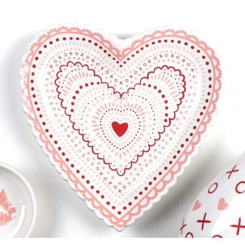 LTD QTY!  Heart Doily Plate
