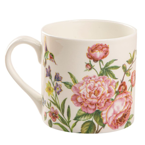 SALE!  Julia Rose Bone China Coffee Mugs Set of 4