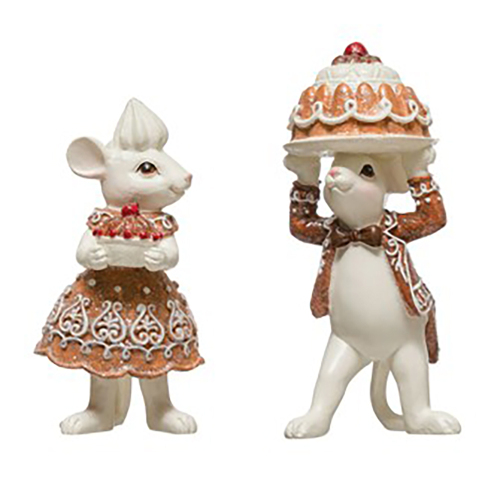 Mouse Couple With Cakes