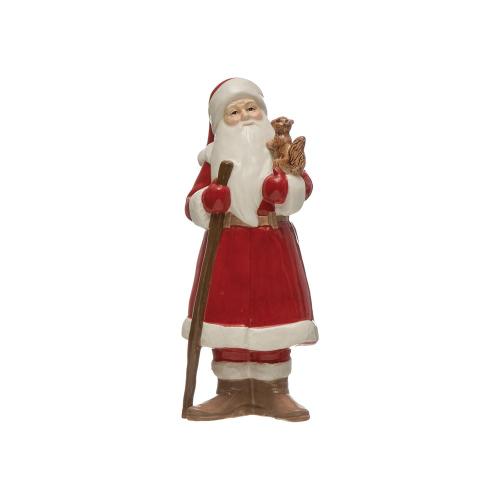 Ceramic Santa with Squirrel