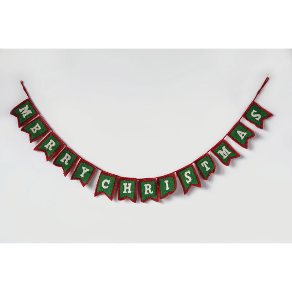 Merry Christmas Wool Garland