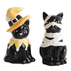 SALE! LTD QTY! Halloween Cats Salt & Pepper