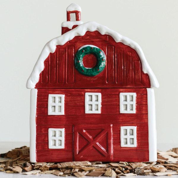 SALE!  Red Barn Cookie Jar