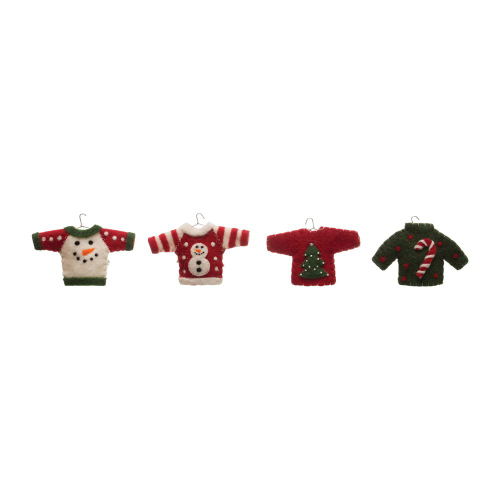 Sweater Ornaments Set of 4