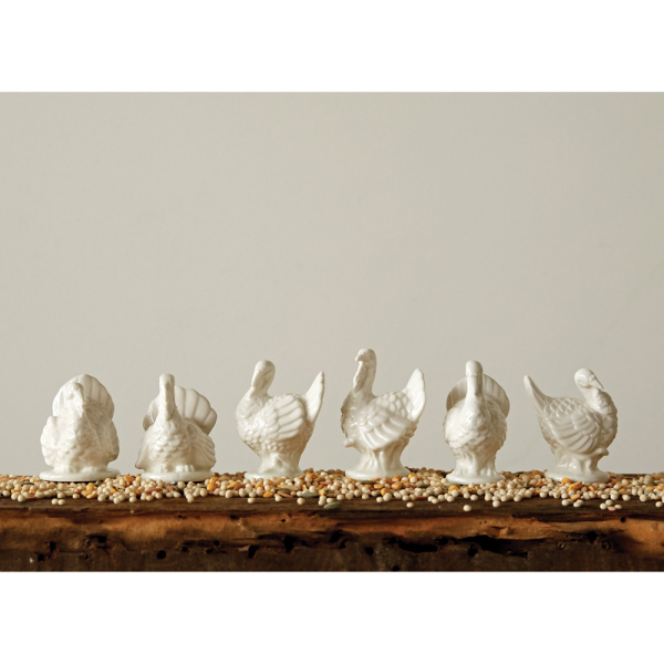 Ceramic Turkeys Set