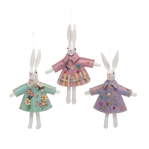 Spring Bunny Ornaments
