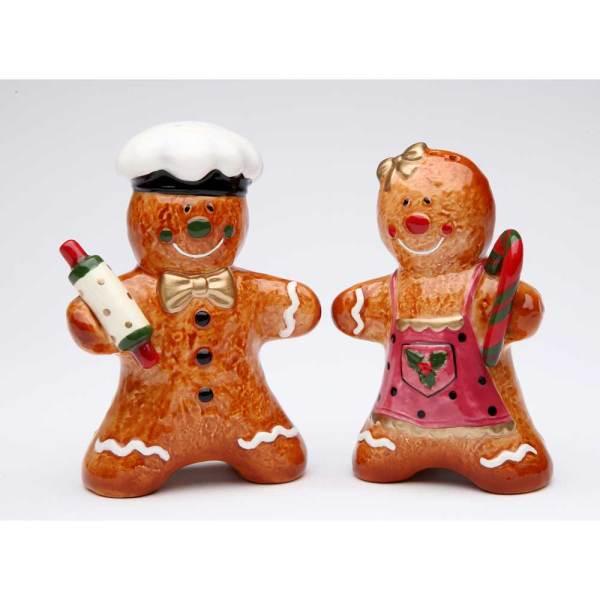 Gingerbread Couple Salt & Pepper