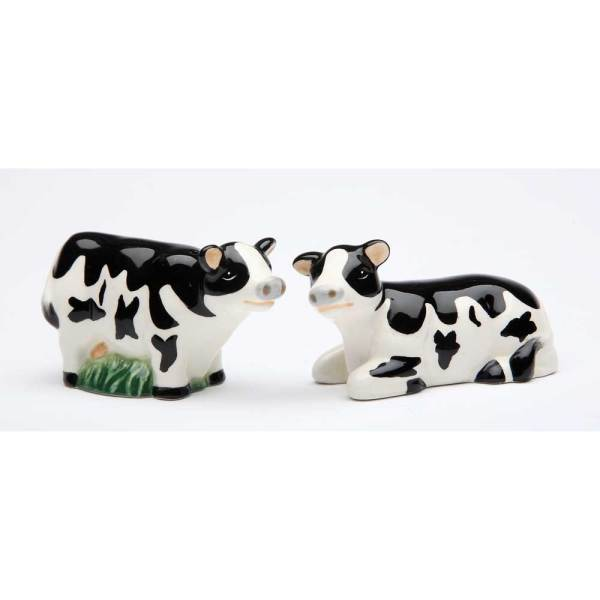 SALE!  Mini Cow Salt & Pepper