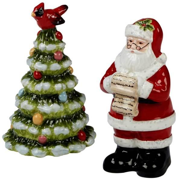 SALE!  Santa & Tree Salt & Pepper