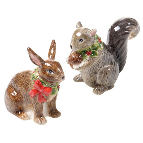 Squirrel & Bunny Salt & Pepper Set