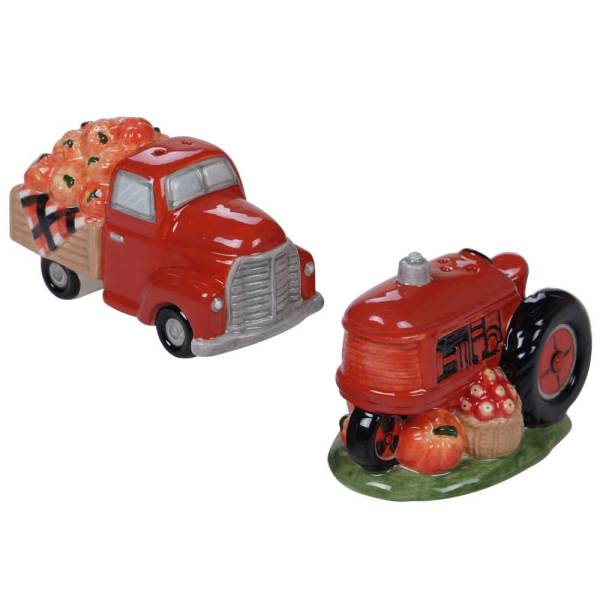 SALE!  Truck & Tractor Salt & Pepper Set