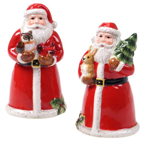 SOS!  Magic of Christmas Santa Salt & Pepper Set