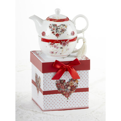 SALE!  Floral Heart Tea for One