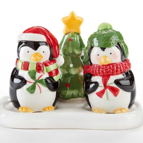Penguins With Tree Salt & Pepper