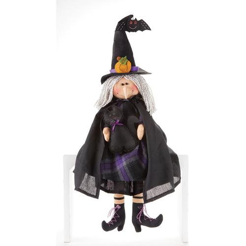 Purple Plaid Witch Sitter