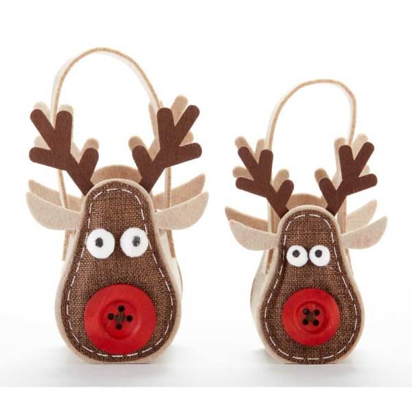 SALE!  Felt Reindeer Bags