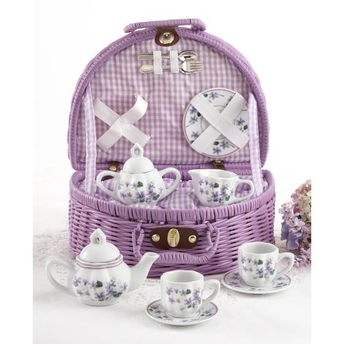 Child's Violets Tea Set for Two