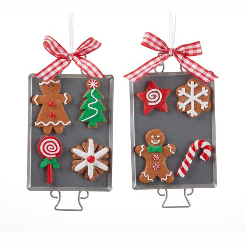 Gingerbread Cookie Sheet Ornament Set