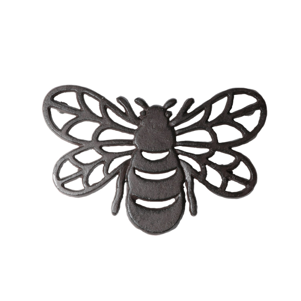 SOS!  Cast Iron Bee Trivet