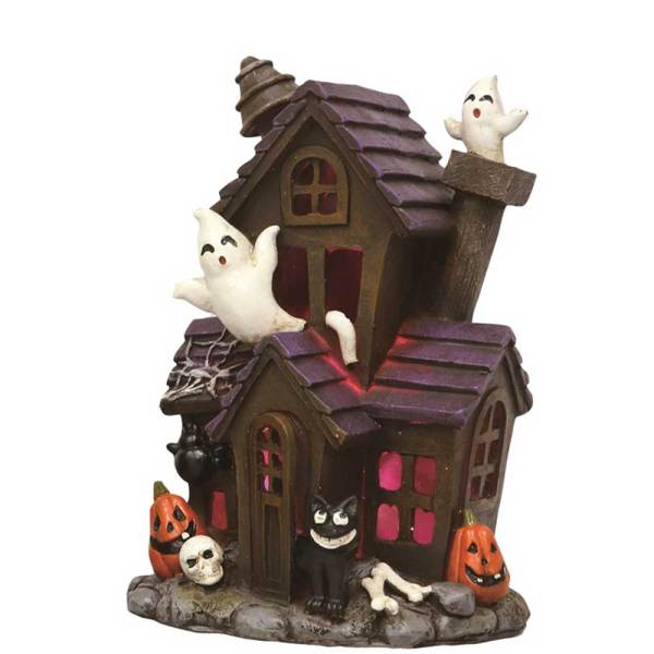 SOS! Cat Lighted Haunted House