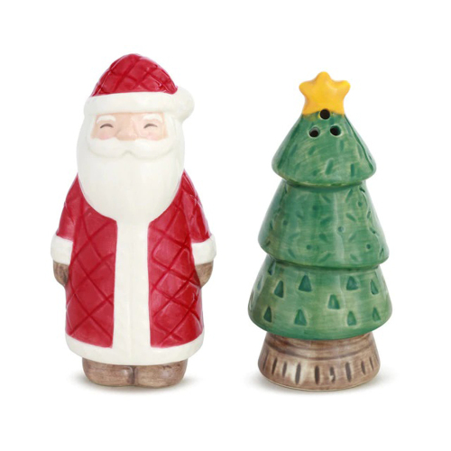 SALE!  Santa & Tree Salt & Pepper