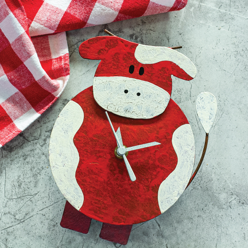 SALE!  Red Fat Cow Clock