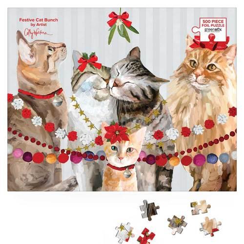 Festive Cat Bunch Puzzle